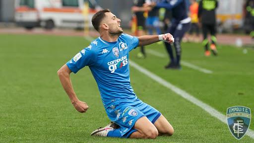 Nedim Bajrami festa dopo gol Empoli FC